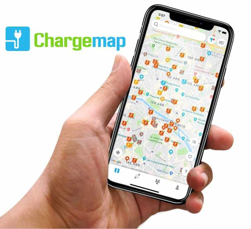 Appkication smartphone chargmap
