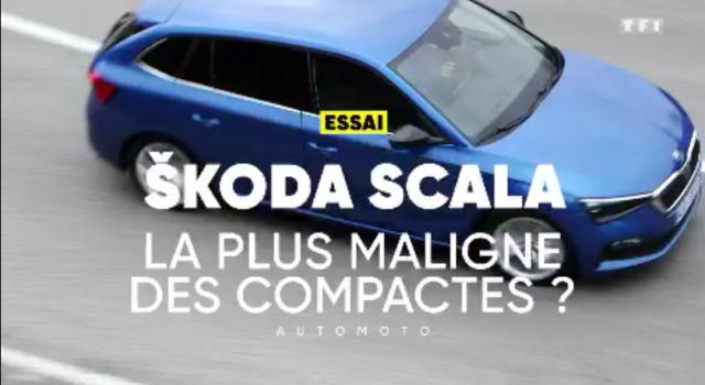 La nouvelle Skoda Scala sur TF1 Auto Moto