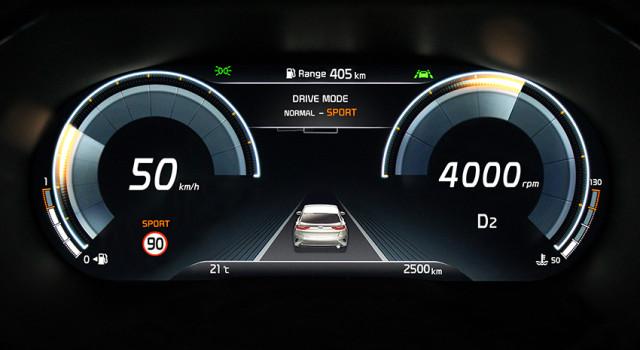 Kia XCeed, nouveau combiné d'instrumentation numérique
